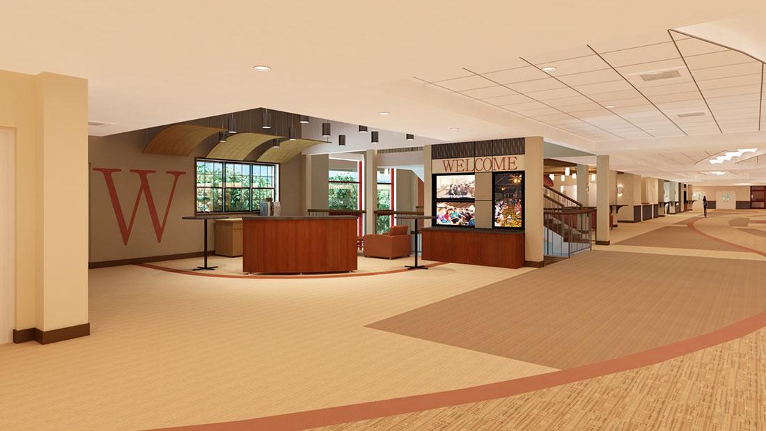 Sims Architects Church Lobby